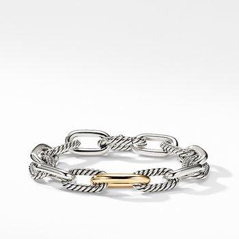 DY Madison Medium Bracelet with 18K Gold, 11mm