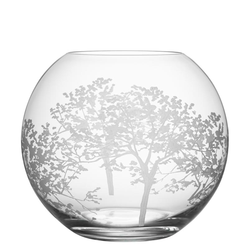 "Orrefors Organic Round Vase 8"""