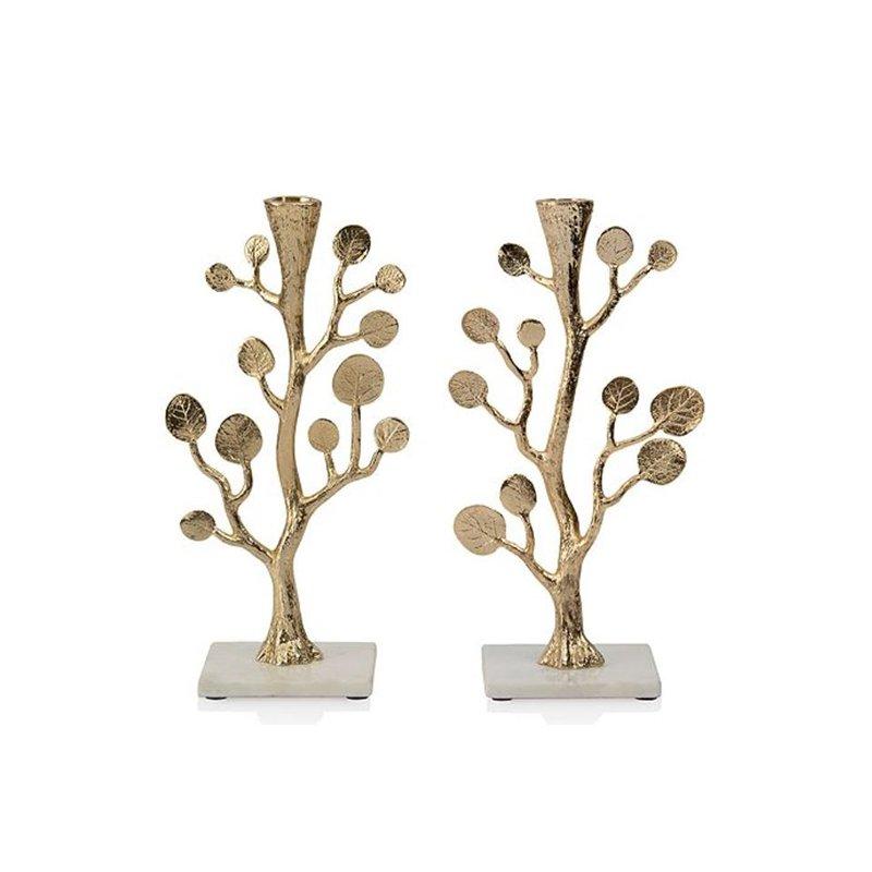 Michael Aram Botanical Leaf Gold Candlesticks