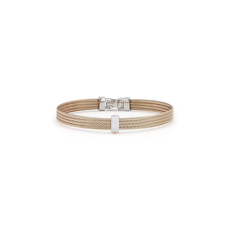 ALOR Carnation Cable Barred Bracelet