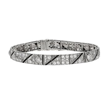 Diamond & Onyx Art Deco Bracelet
