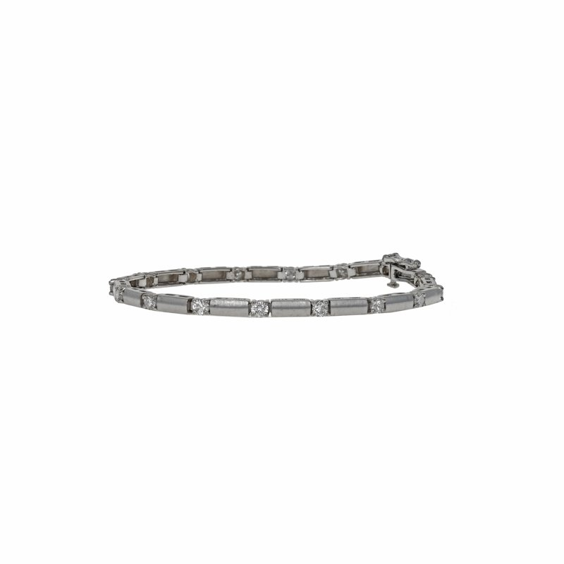 Estate Radcliffe Satin Finish Diamond Tennis Bracelet