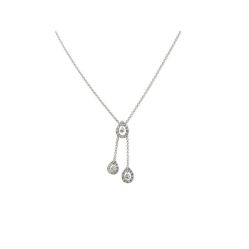 Estate Radcliffe Diamond Tear Drop Necklace