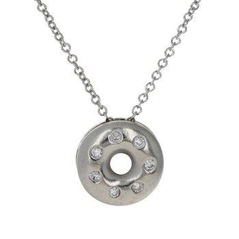 Diamond Doughnut Pendant Necklace