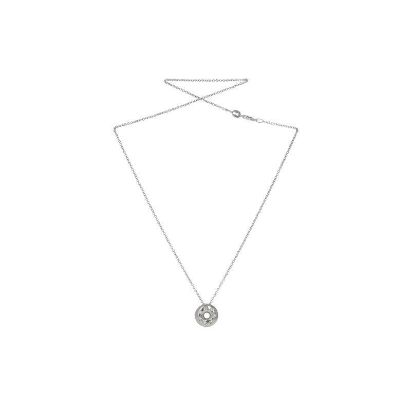 Estate Radcliffe Diamond Doughnut Pendant Necklace