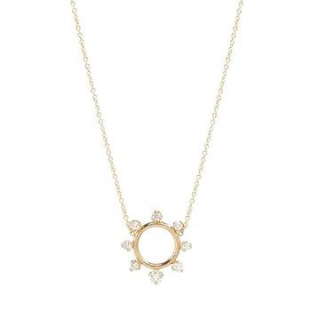 Sunburst Circle Necklace