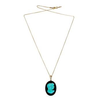 Onyx & Opal Necklace