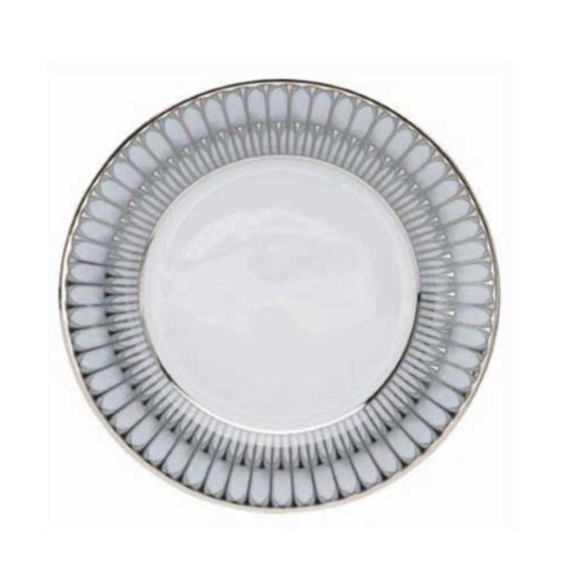 Philippe Deshoulieres Arcades Grey & Platinum Dessert/Salad Plate