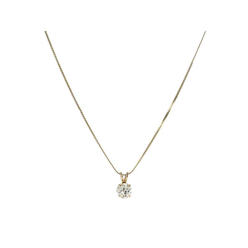 Estate Radcliffe Solitaire Diamond Necklace
