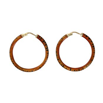 Tiger Stripe Hoop Earrings