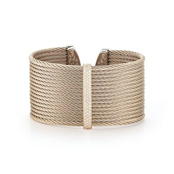 Carnation Cable Large Monochrome Cuff