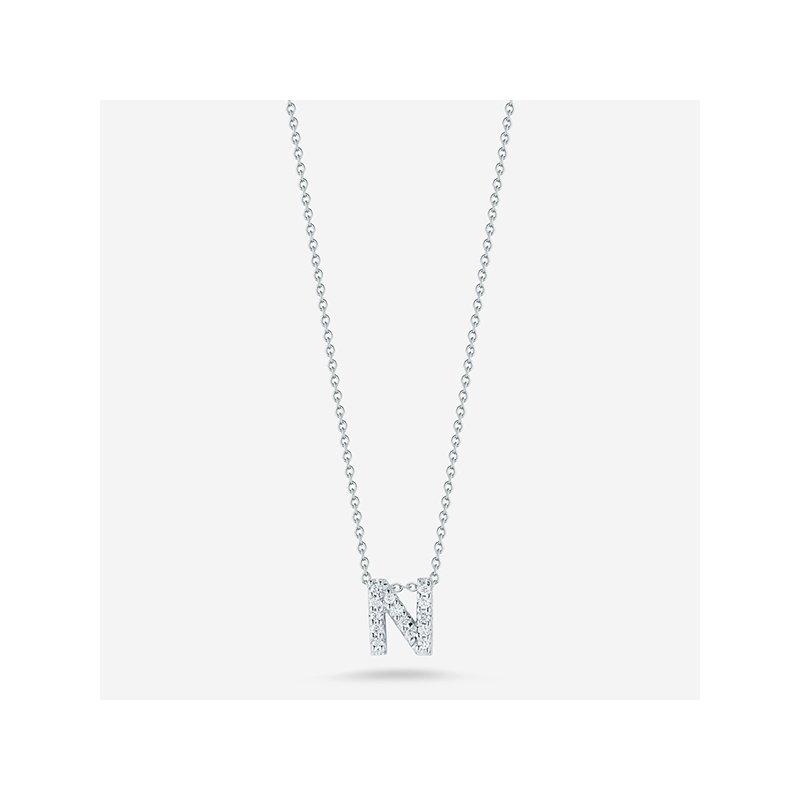 "Roberto Coin Diamond ""N"" Pendant"