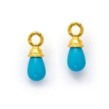 Sleeping Beauty Turquoise Earring Pendants