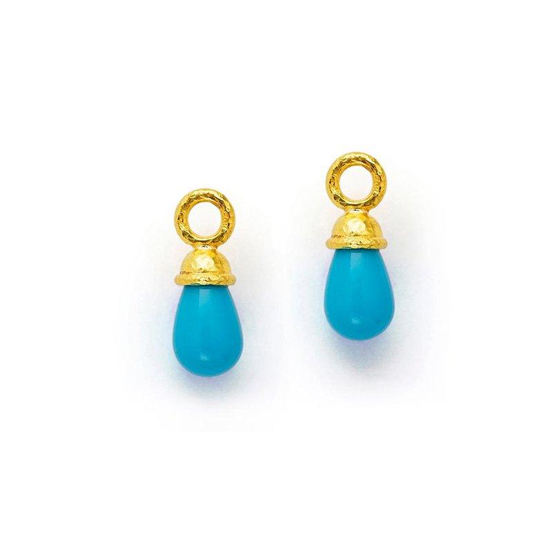 Elizabeth Locke Sleeping Beauty Turquoise Earring Pendants