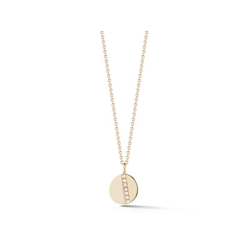Dana Rebecca Designs Lauren Joy Diamond Row Disc Necklace