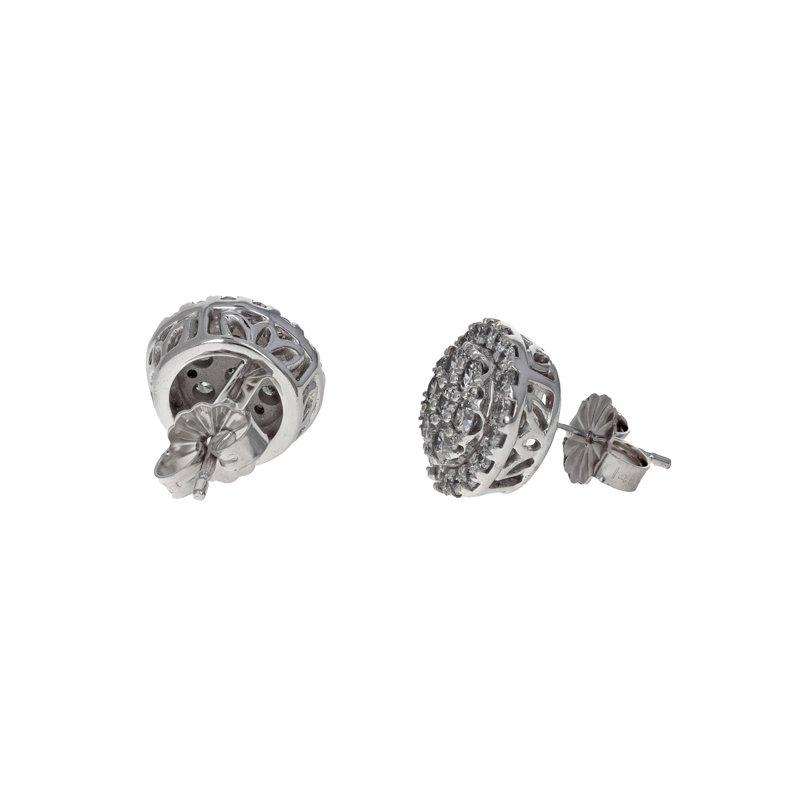 Estate Radcliffe Diamond Cluster Earrings