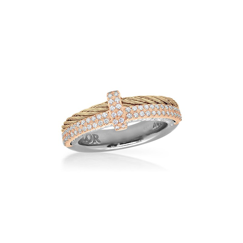 ALOR Carnation Cable Petite Opulence Ring