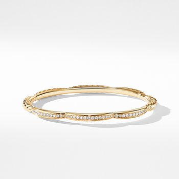 Tides Three Station Bracelet in 18K Yellow Gold with Diamonds