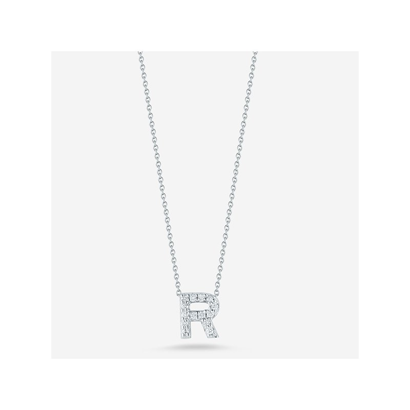 "Roberto Coin Diamond ""R"" Pendant"