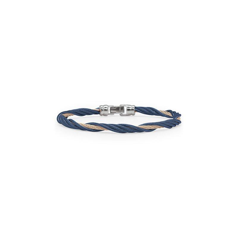ALOR Blueberry & Carnation Cable Twist Bracelet