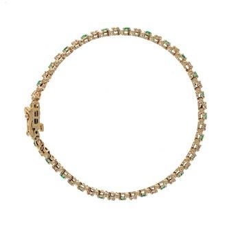Diamond & Emerald Tennis Bracelet