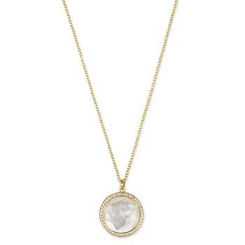 Medium Pendant Necklace in 18K Gold with Diamonds