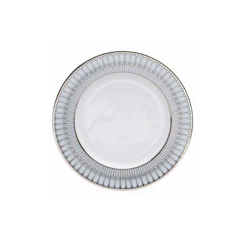 Philippe Deshoulieres Arcades Grey & Platinum Dinner Plate