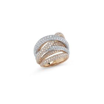 Classic Diamond Crossover Ring