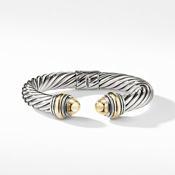 Cable Classics Bracelet with Bonded Yellow Gold and 14K Gold, 10mm