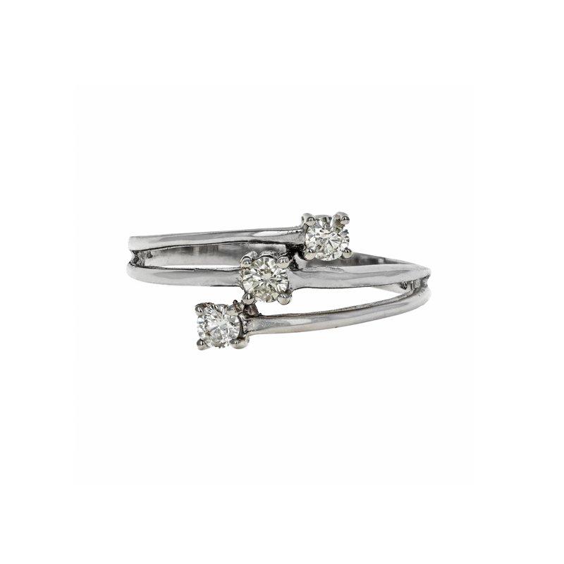 Estate Radcliffe Three Band Diamond Bypass Ring