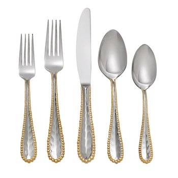 Molten Gold 5-Piece Flatware Set