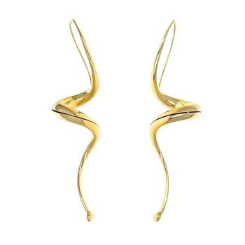 Hollow Swirl Drop Earrings