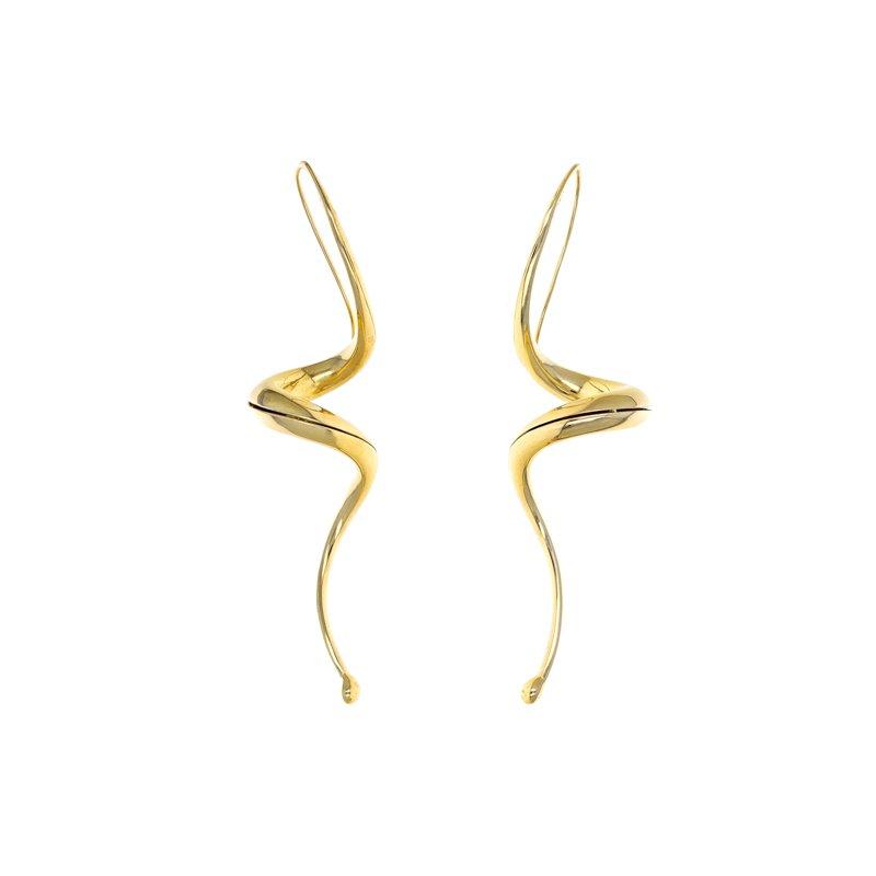 Estate Radcliffe Hollow Swirl Drop Earrings