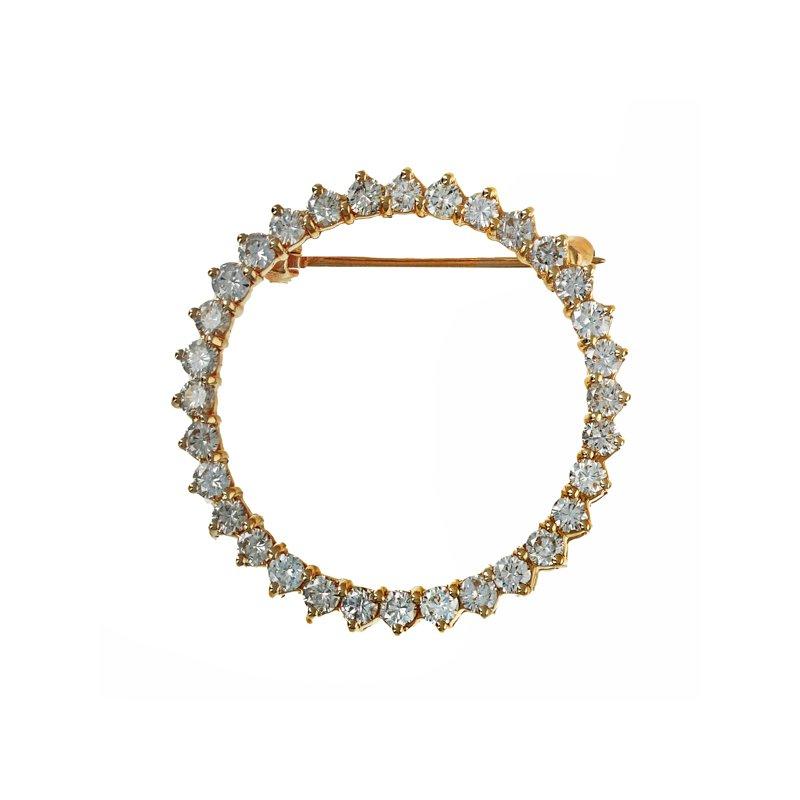 Estate Radcliffe Diamond Circle Pin