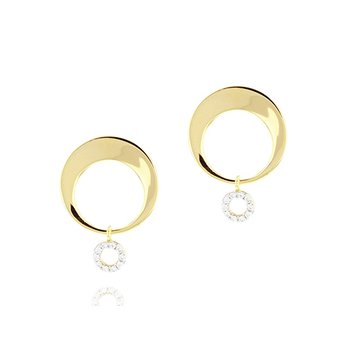 Crescent Loop Earrings