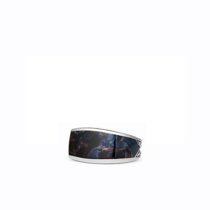 David Yurman Exotic Stone Narrow Three-Sided Ring with Pietersite