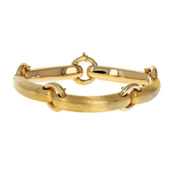 Rectangle & Circle Link Bracelet