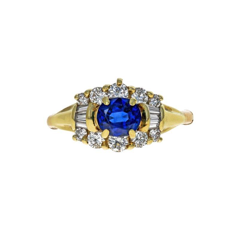 Estate Radcliffe Sapphire & Diamond Ring