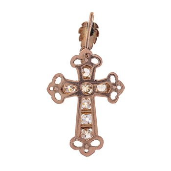 1860's Diamond Cross Pendant