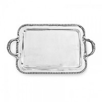 Pearl Square Tray with Handles