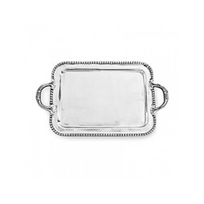 Beatriz Ball Pearl Square Tray with Handles