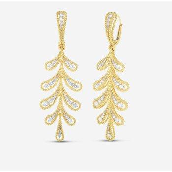 Byzantine Barocco Laurel Leaf Dangle Earrings