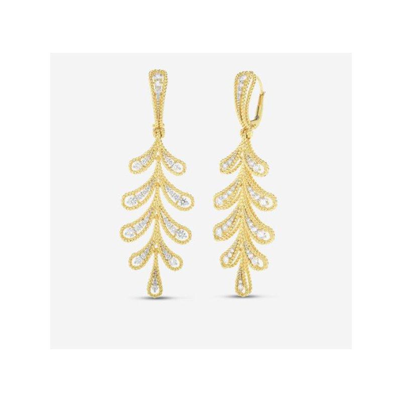 Roberto Coin Byzantine Barocco Laurel Leaf Dangle Earrings