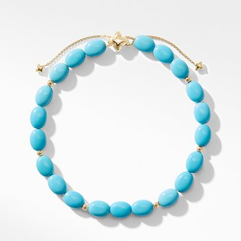 Spiritual Bead Bracelet with Turquoise and 18K Gold