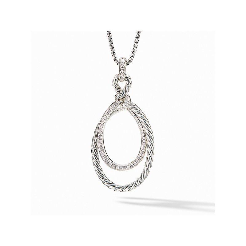 David Yurman Continuance Pendant Necklace with Diamonds