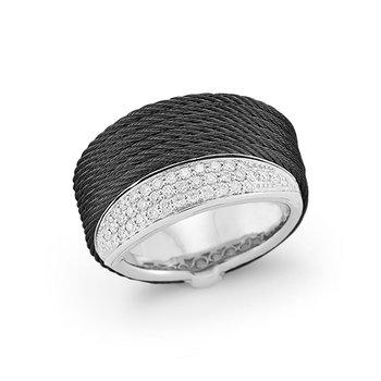 Black Cable Peekaboo Ring