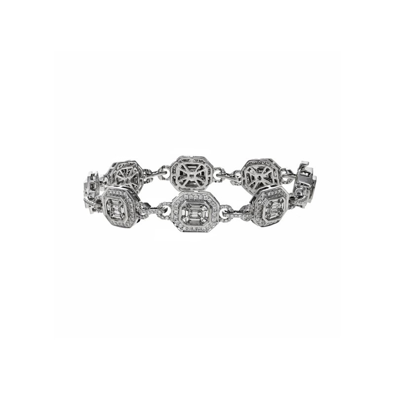 Estate Radcliffe Octagon Link Diamond Bracelet