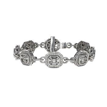 Octagon Link Diamond Bracelet