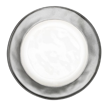 Emerson White & Pewter Salad Plate