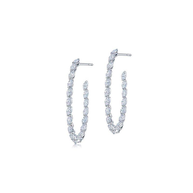 Kwiat Marquise Diamond Hoop Earrings
